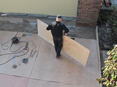 werkvloer onderheid terras
