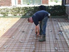 betonijzer bewapening terras