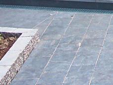 Bestraten onderheid terras